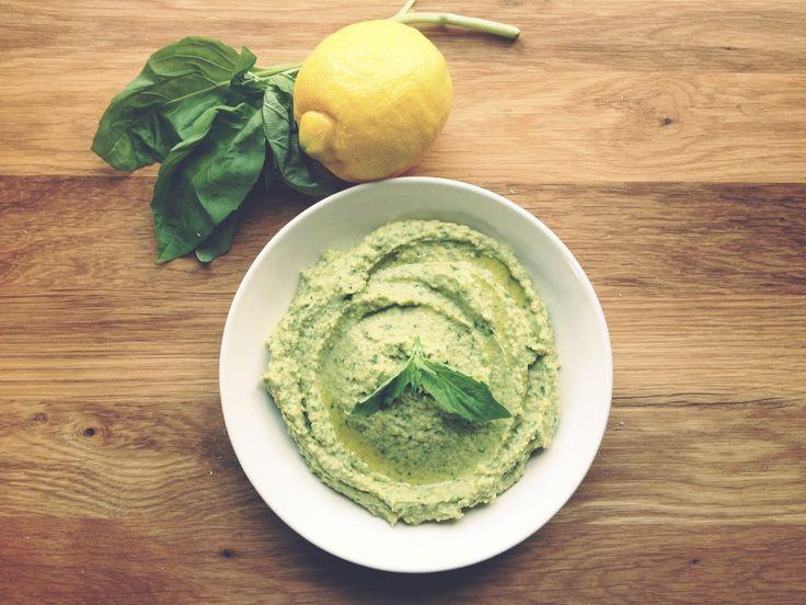 Lemon and Basil Hummus | Appetizers | Pinterest