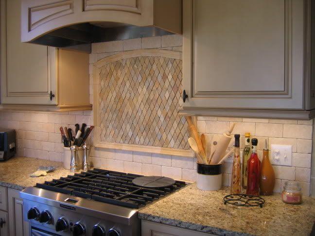 backsplash with new venetian gold granite