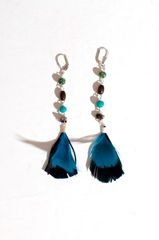 diy jewelry diy feather earrings crafts projects