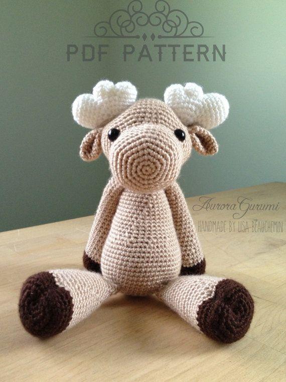 Amigurumi Moose : Milfred moose amigurumi pdf pattern