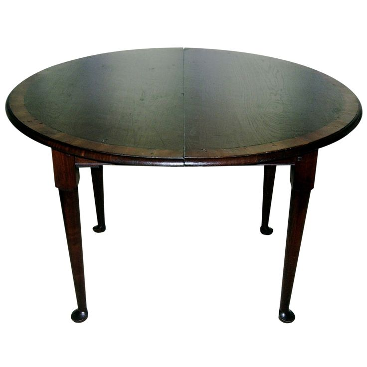 1stdibs 42 Round Breakfast Games Dining Table With 18 Leaf