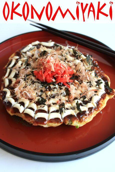 okonomiyaki japanese pizza pancake 1 | Pretend Foodie | Pinterest