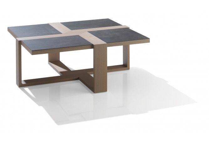 Table Basse Carrae : Table Basse carrée Céramie  Table basse  Pinterest