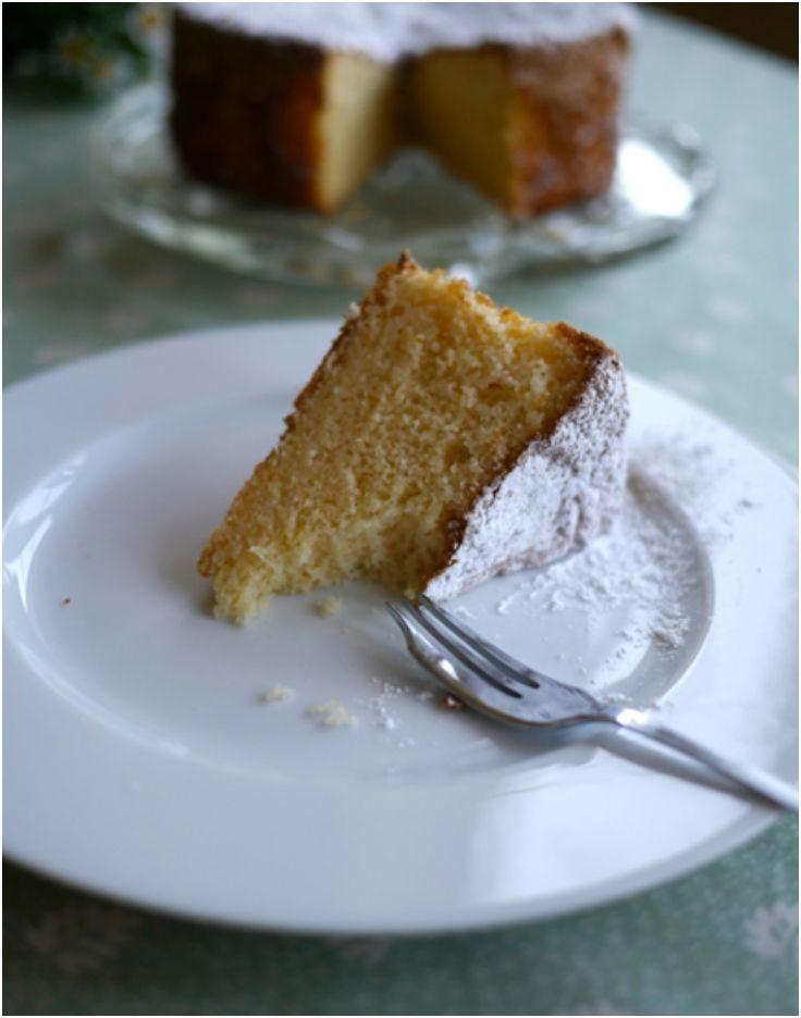 Gluten and dairy free Lemon Chiffon Cake