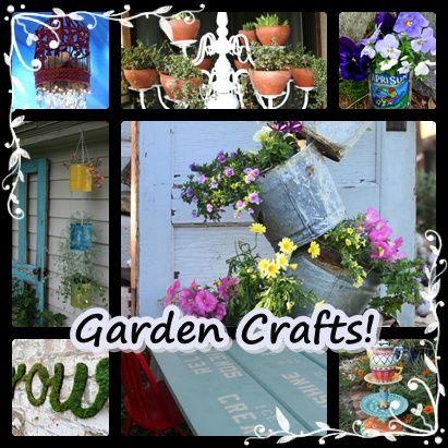 Garden crafts backyard ideas pinterest for Craft ideas for garden decorations