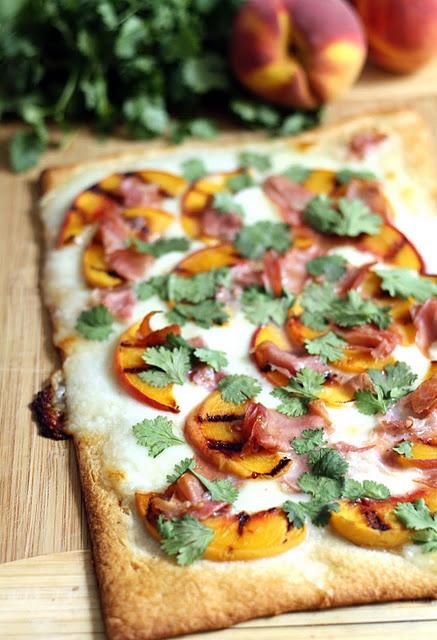 grilled peach & prosciutto pizza | treats/food/recipes! | Pinterest