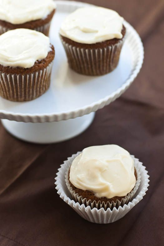 Vegan Pumpkin Muffins with (ahem!) Cream Cheese Frosting