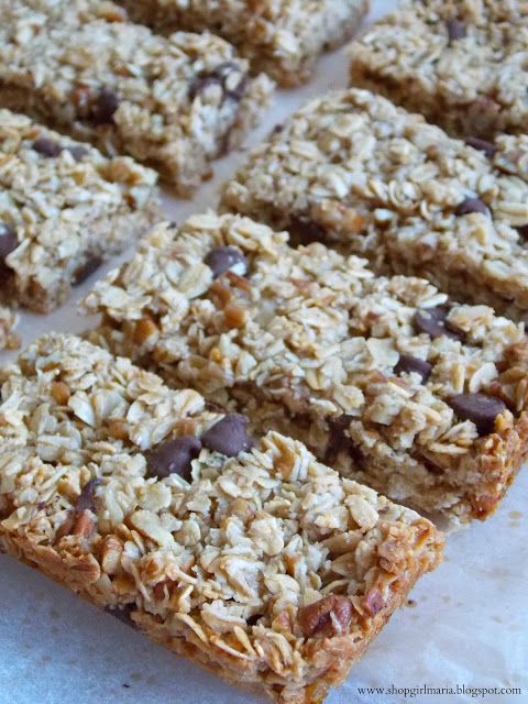Chocolate Chip Pecan Granola Bars | Home Cookin' | Pinterest
