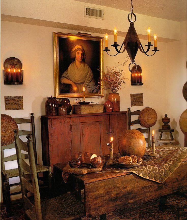 Pinterest early american colonial interiors joy studio for Primitive interior designs