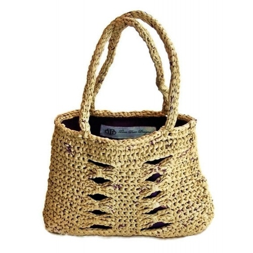 Crochet Grocery Bags : ... : recycled Plastic grocery bags (approximately 50 bags); poly lining