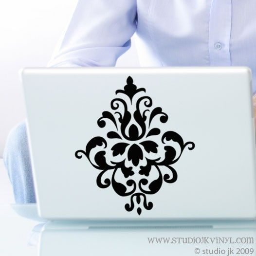 small damask vinyl wall decal graphic art sticker home decor damask stencil decals vinyl wall paper damask wall decal