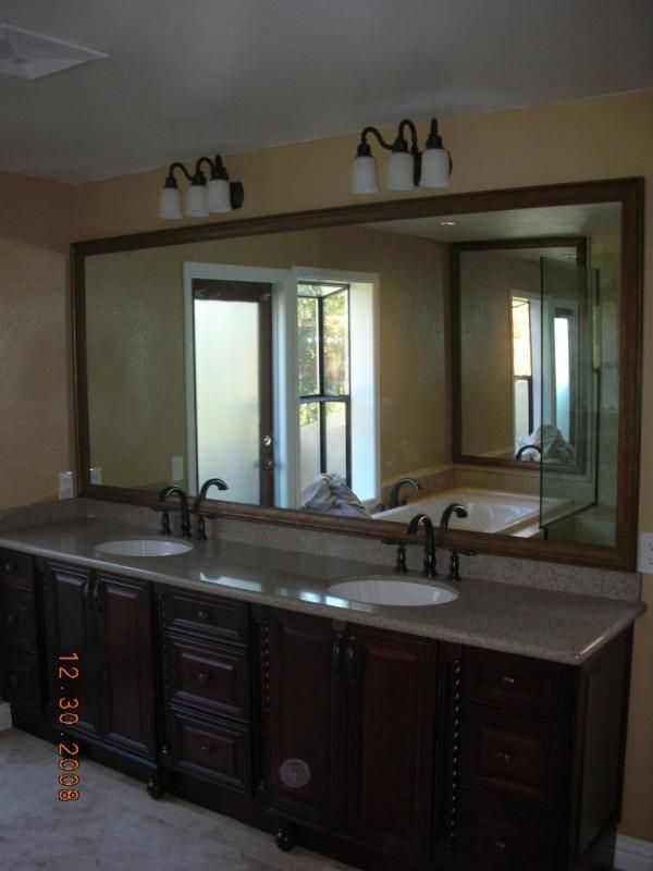 Double vanity mirror google search bathroom ideas pinterest - Double vanity bathroom mirror ideas ...