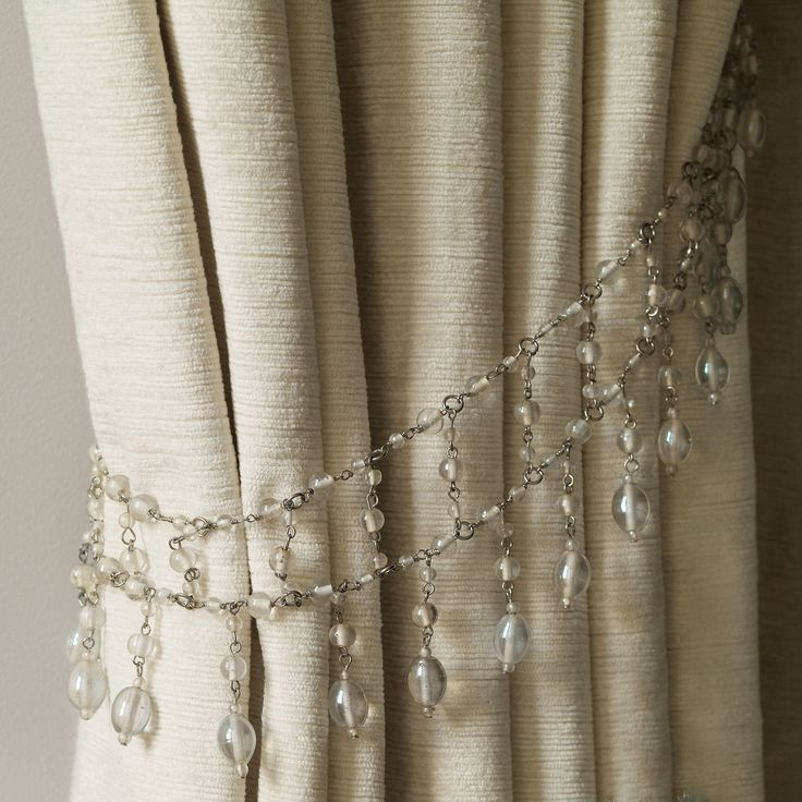 Evie Glass Bead Curtain Tieback | Window Treatments | Pinterest