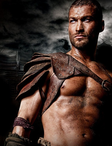 Andy Whitfield as Spartacus. Lost much too soon.
