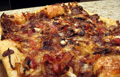 & Onion Tart Pizza: Puff Pastry topped with caramelized onions ...