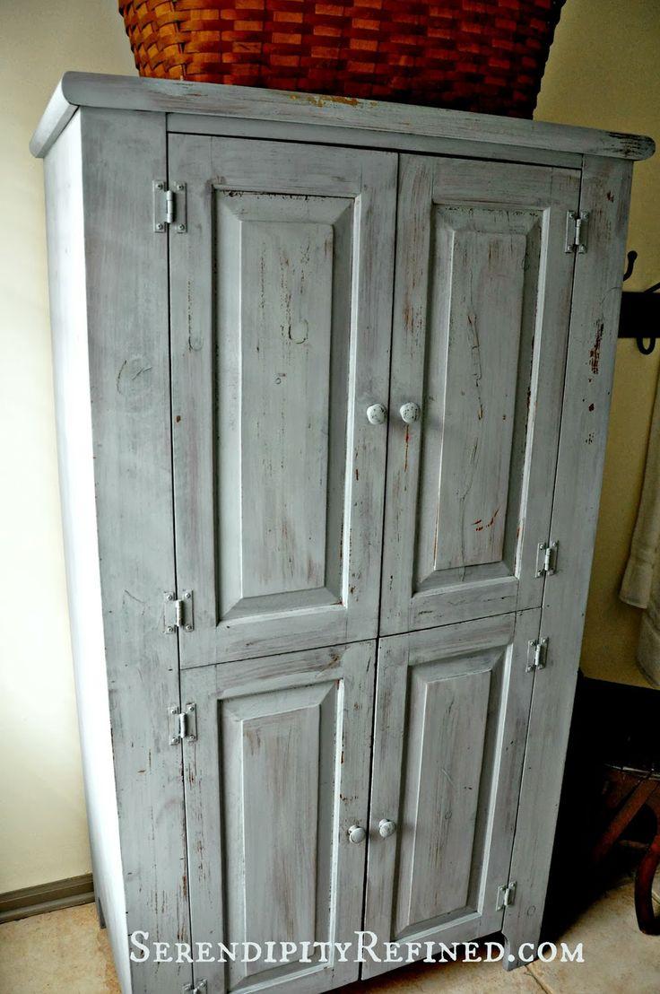 Serendipity Refined Milk Painted Rustic Farmhouse Linen Cabinet Tutorial Lloyd Lois Pinterest