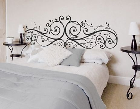 Painted headboard? Interesting, I just think its a pretty design...maybe for a tattoo-