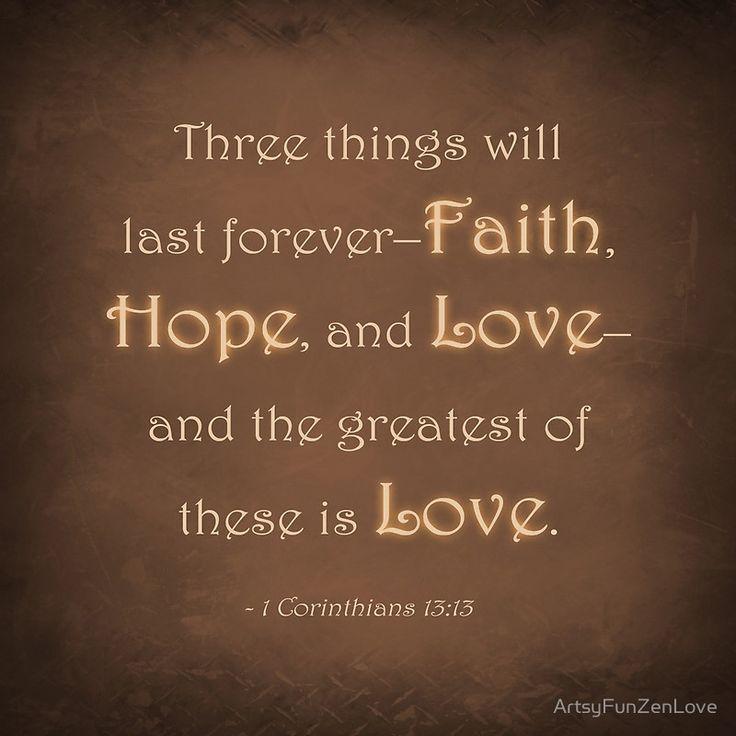 1 Corinthians 13:13 | Art Print