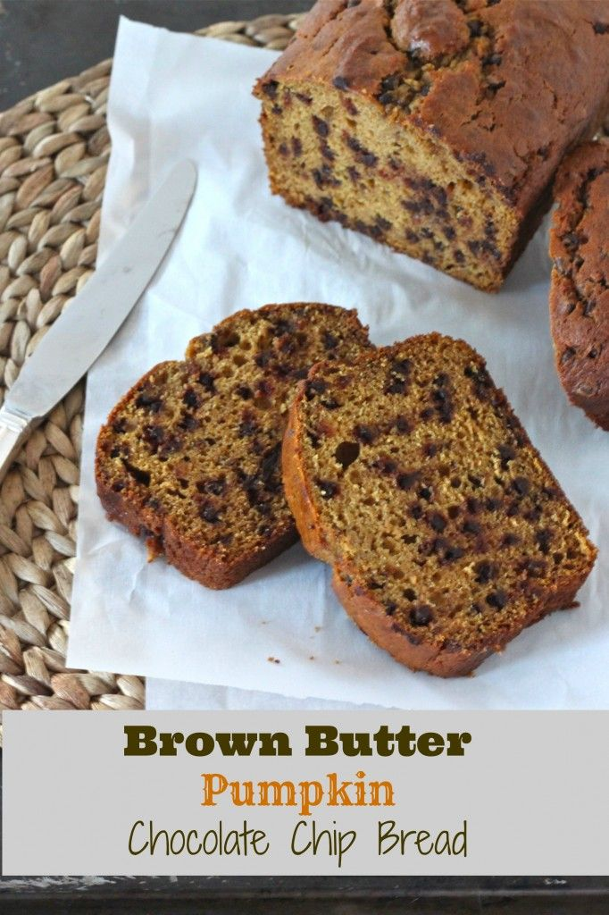 Brown Butter Pumpkin Chocolate Chip Bread | TheCornerKitchenBlog.com # ...