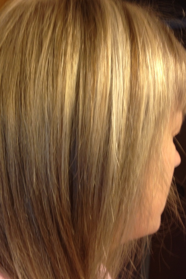 Blonde Foiled Hair Pictures | Dark Brown Hairs