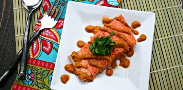 Salmon With Deconstructed Romesco Sauce Recipes — Dishmaps