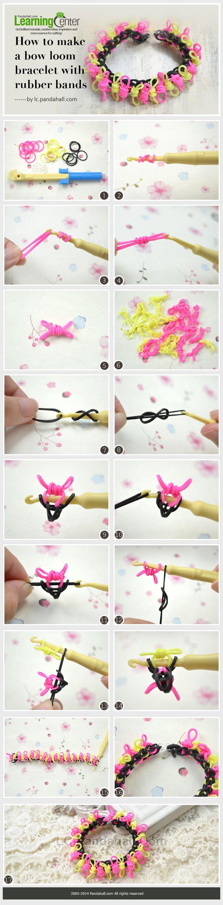 Como fazer um tear pulseira arco com elásticos