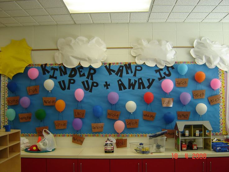 hot air balloon bulletin board back to school pinterest