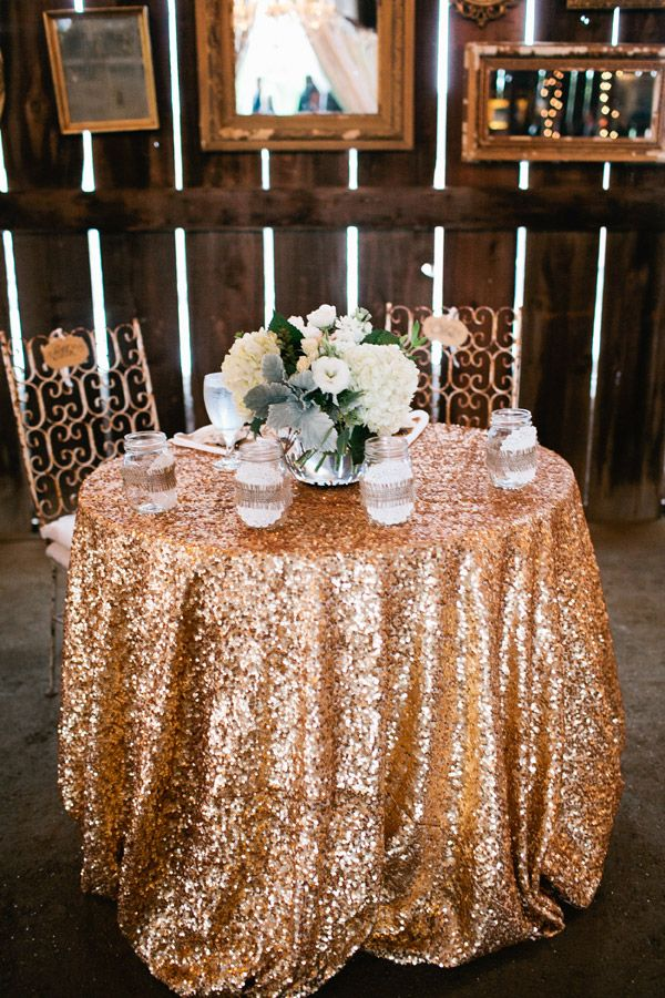 gold sequin tablecloth rent