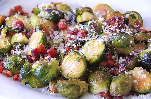 Roasted Brussels Sprouts with Crisp Pancetta