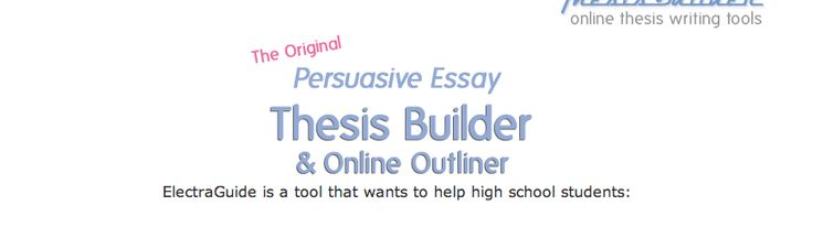 Thesis builder online