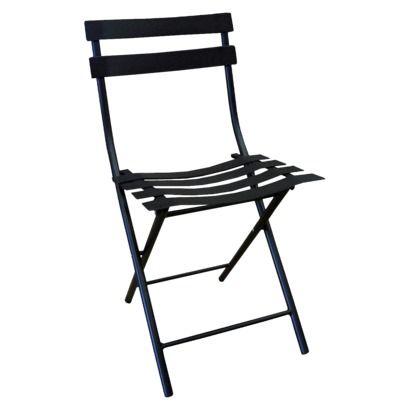 Patio Folding Chair Thrshd 18in Black