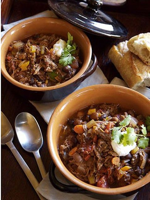 slow braised carnitas chili | yum | Pinterest
