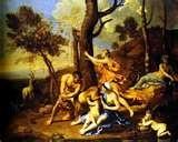 08 - Por otro lado en el Olimpo, la nodriza de Júpiter la famosa Amaltea de generoso busto utiliza su leche para hacer el primer mágico queso para su poderoso pupilo.