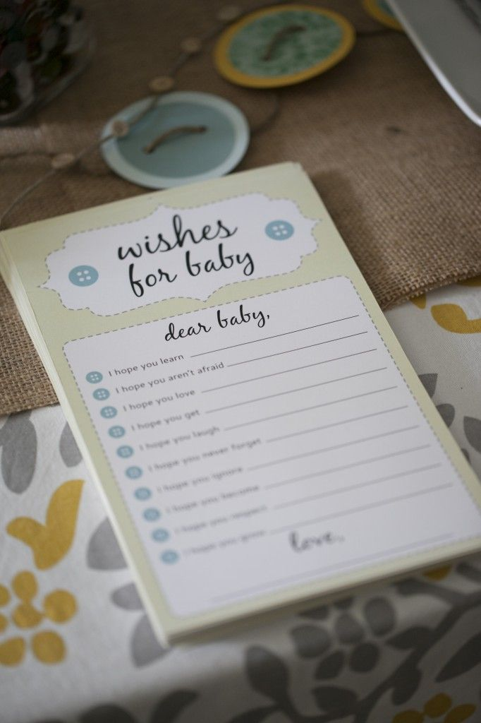Wishes for Baby - fun activity for a baby shower! #babyshower