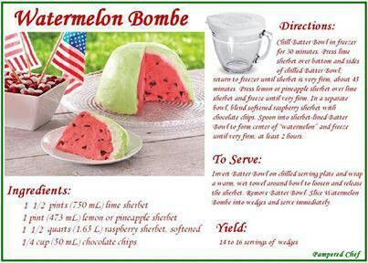 Watermelon Bombe | Food | Pinterest