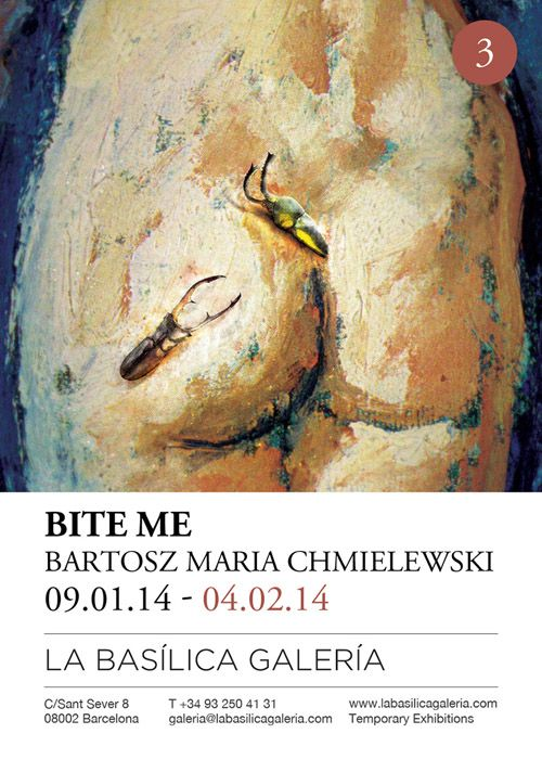 """Comenzamos el 2014 con la exposición del artista poláco Bartosz Maria Chmielewski, """"Bite Me"""" una colección de joyería entomológica.      La Basilica Galeria Temporary Exhibitions C/ Sant Sever 8 derecha, 08002 Barcelone"""