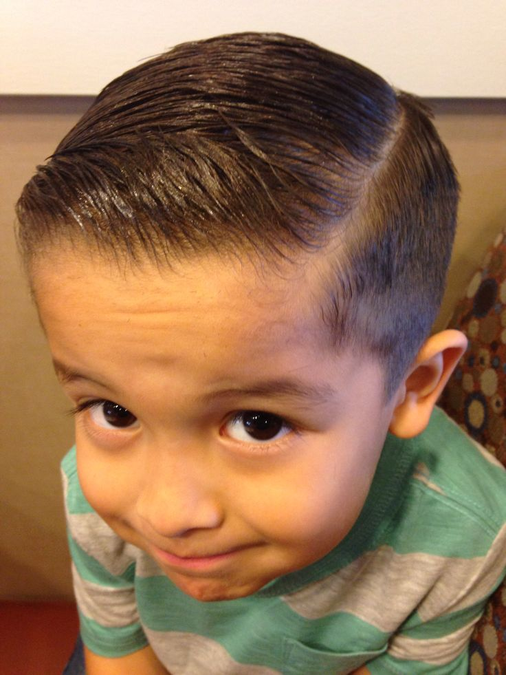 Comb Over Side Fade Kids My little man's fade combover