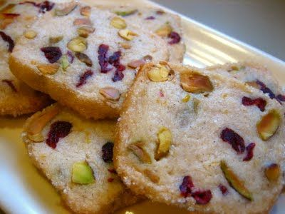 Pistachio Cranberry Cookies and Cranberry Biscotti