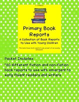 Book report activities for primary grades