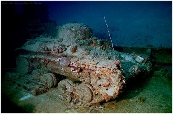 Truk Lagoon, sunken WWII tank | History | Pinterest Sunken Tank
