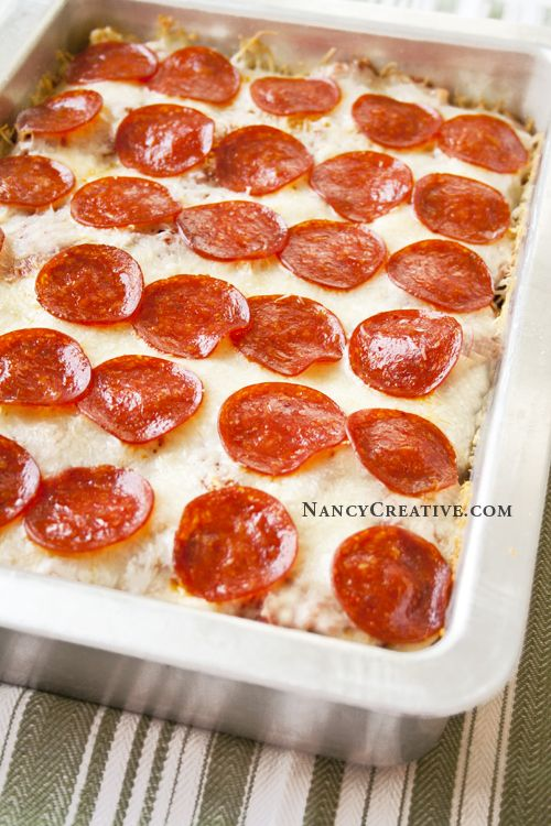 Pepperoni Pizza Casserole | Food: Pizza and Pasta | Pinterest
