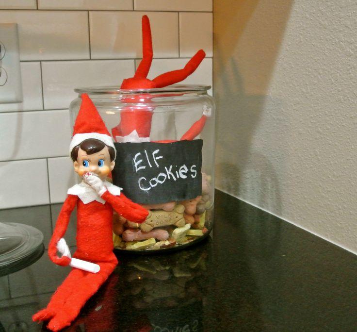 Elf on the Shelf. Day 20: Elf Cookie Prank