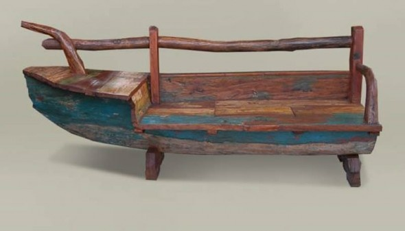 Bench Made From Old Bali Boat Wood Pinterest