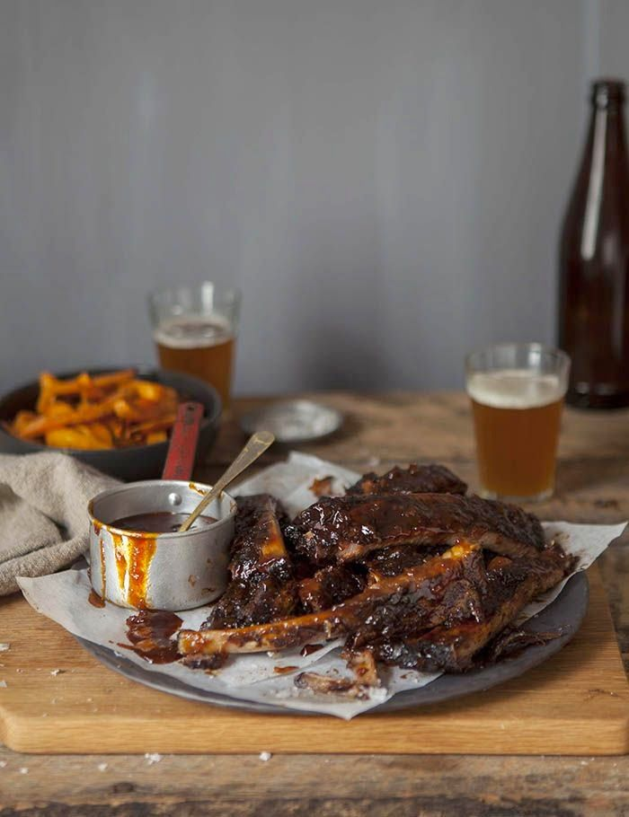 sticky BBQ spare ribs with a coffee and pepper rub recipe | BBQ ...