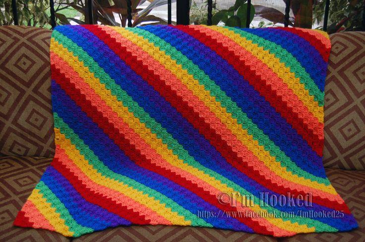Crochet Pattern For C2c Afghan : rainbow c2c baby blanket crochet - ideas Pinterest