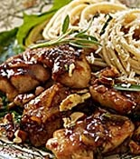 Orange-Balsamic Chicken Thighs with Pecans and Sage Butter Pasta | Re ...