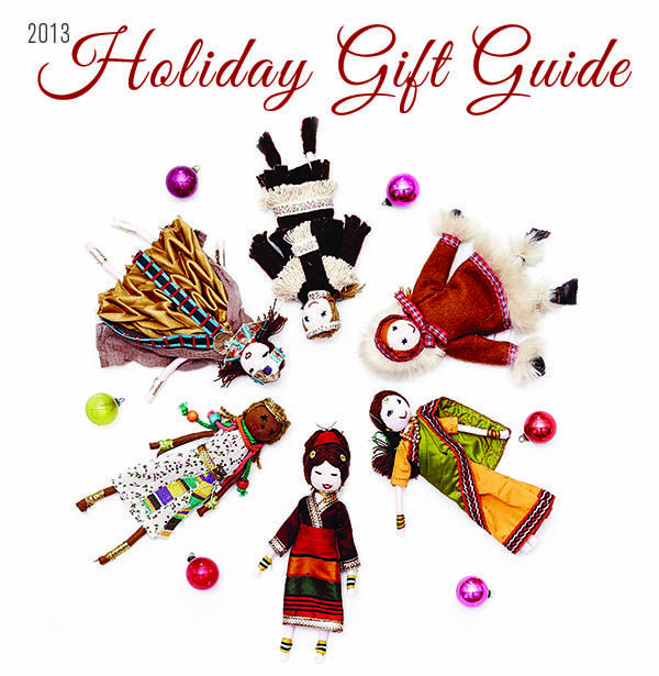 Organic Spa Magazine's 2013 Holiday Gift Guide | 150+ Eco-Friendly Green Gift Ideas | Pictured Here: Global Doll Ornaments available at ABC Home | #OrganicSpaMagazine
