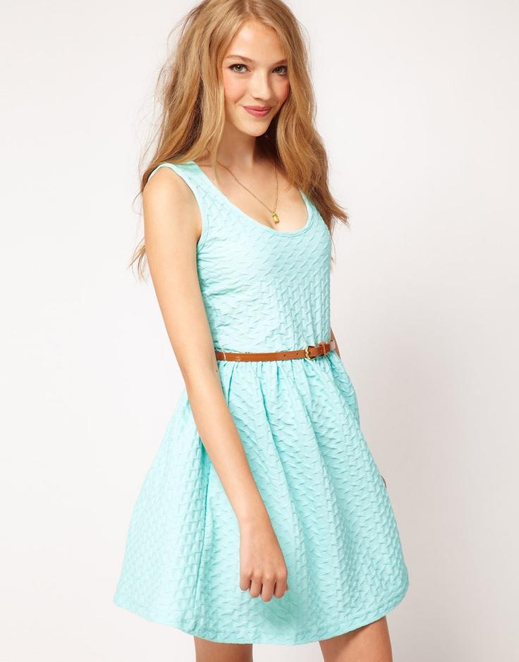 sleeveless texture dress / asos