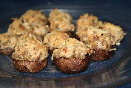 Spicy Sausage Stuffed Monterey Mushrooms | Recipe