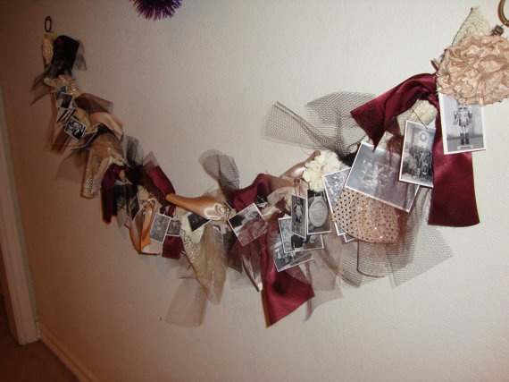 Memory Garland  custom made with your photos by EclecticsEtc, $50.00